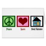 Propiedades inmobiliarias del amor de la paz felicitacion