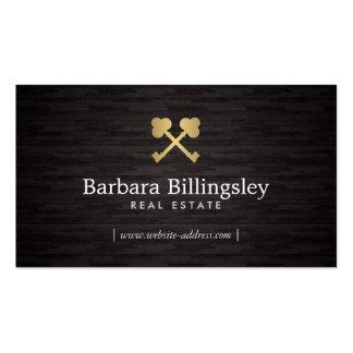 Propiedades inmobiliarias del logotipo de la llave tarjetas de visita