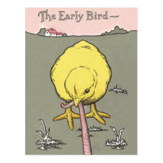 Propiedades inmobiliarias del pájaro temprano que  tarjetas postales