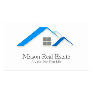 Propiedades inmobiliarias del tejado elegante de l tarjetas de visita