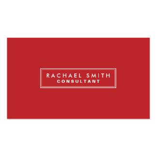 Propiedades inmobiliarias elegantes rojas llanas tarjetas de visita