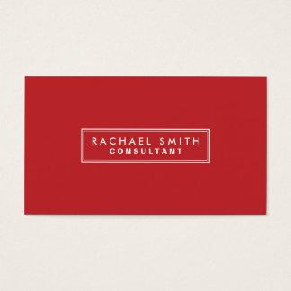 Propiedades inmobiliarias elegantes rojas llanas tarjeta de negocios
