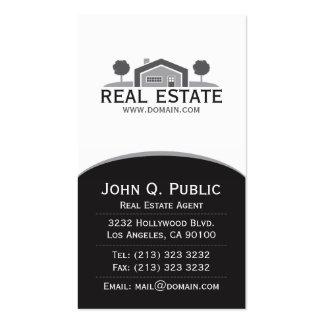Propiedades inmobiliarias elegantes tarjetas de visita