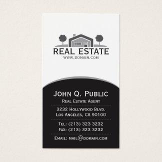 Propiedades inmobiliarias elegantes tarjeta de negocios