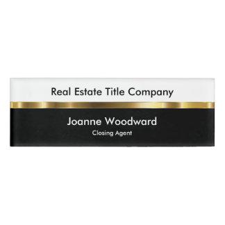 Propiedades inmobiliarias etiqueta con nombre