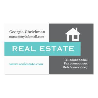 Propiedades inmobiliarias grises, blanco, tarjetas de visita