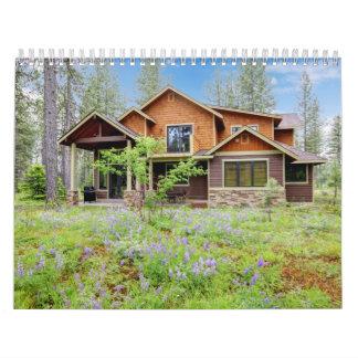 Propiedades inmobiliarias. Interiores caseros. Calendarios