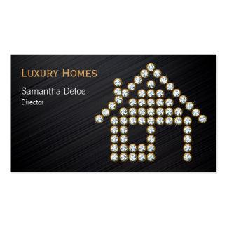 Propiedades inmobiliarias profesionales de lujo tarjetas de visita