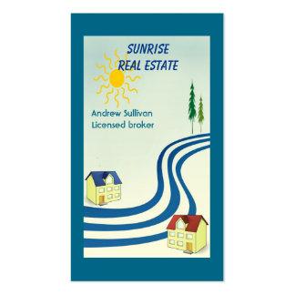 Propiedades inmobiliarias plantillas de tarjetas personales