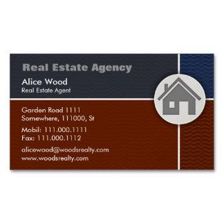 Propiedades inmobiliarias - tarjeta de visita tarjetas de visita magnéticas (paquete de 25)
