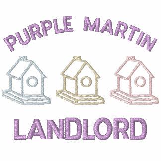 Propietario de Martin púrpura Sudadera Bordada Con Serigrafia