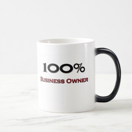 Propietario de negocio del 100 por ciento taza mágica