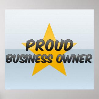 Propietario de negocio orgulloso poster