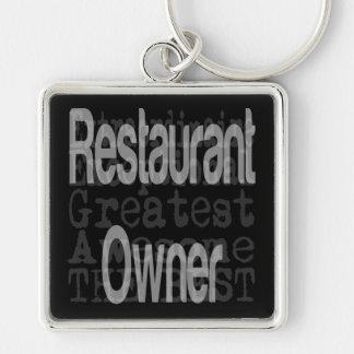 Propietario de restaurante Extraordinaire Llavero Cuadrado Plateado