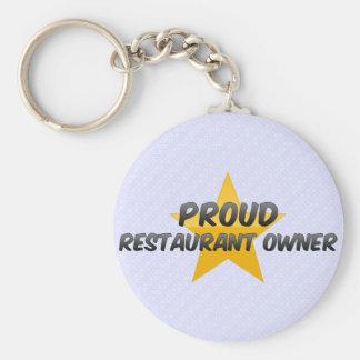 Propietario de restaurante orgulloso llaveros personalizados