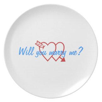 Proponga las placas plato de cena