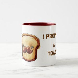 Propongo una tostada taza de dos tonos