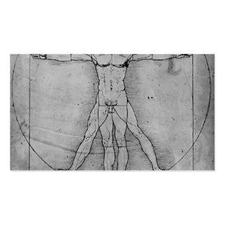 Proporciones de Leonardo Vinci- de la figura human Plantillas De Tarjetas De Visita