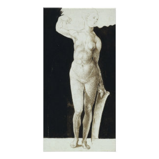 Proportion Study of Human Figure by Durer Card