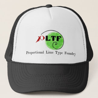 Proportional Lime Type Foundry Trucker Hat