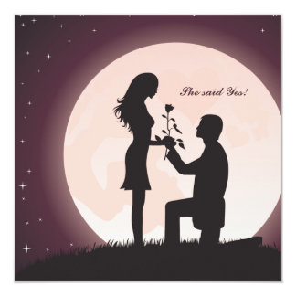 Proposal by Moonlight Engagement Invitation