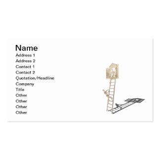 Proposal Climb Ladder Diamond Ring Business Card Template