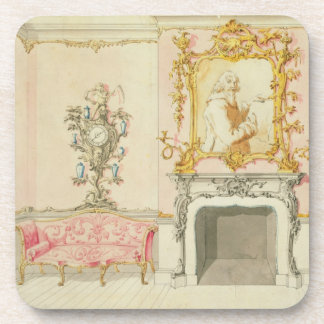 Proposal for a drawing room interior, 1755-60 (w/c coaster