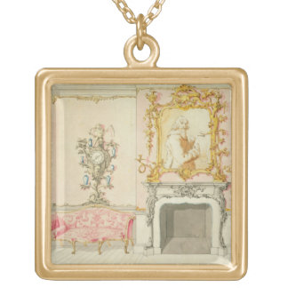 Proposal for a drawing room interior, 1755-60 (w/c gold plated necklace