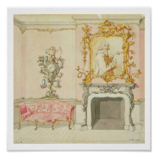 Proposal for a drawing room interior, 1755-60 (w/c poster
