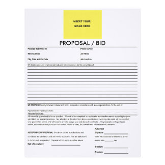 Proposal Form Deluxeforms Blank Template Letterhead