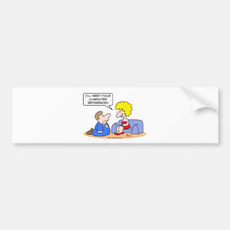 proposal four character references bumper sticker
