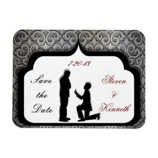 Proposal Gay Wedding Save-the-Date Magnets