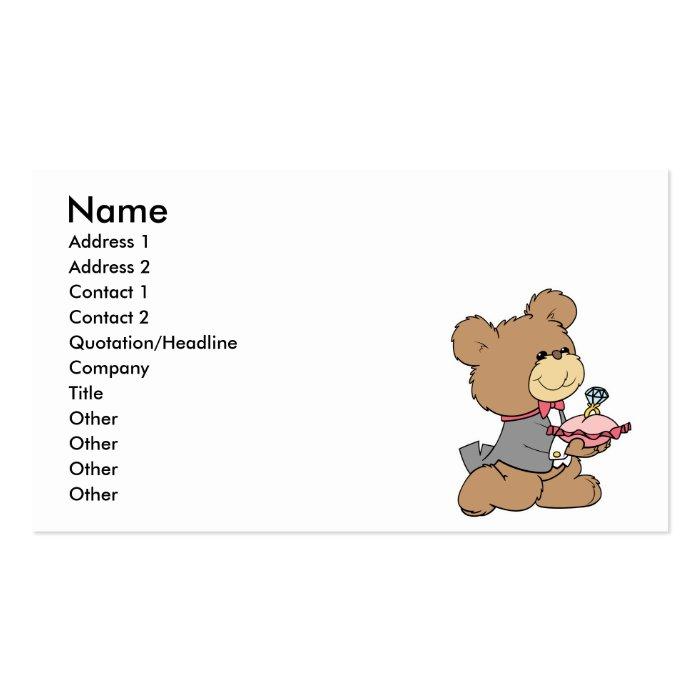 Proposal Or Ring Bearer Teddy Bear Design