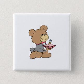 proposal or ring bearer teddy bear design button