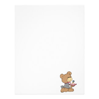 proposal or ring bearer teddy bear design letterhead