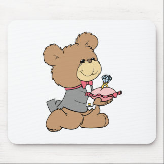 proposal or ring bearer teddy bear design mouse pad