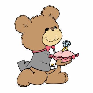 proposal or ring bearer teddy bear design photo cutouts