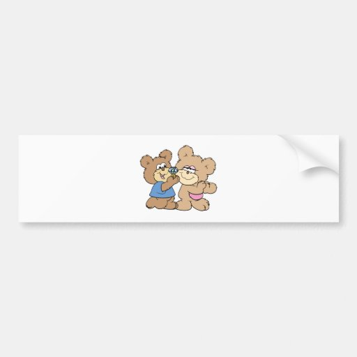 proposal wedding bears car bumper sticker