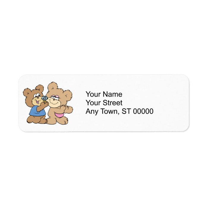 proposal wedding bears label