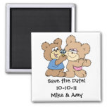 proposal wedding bears save the date refrigerator magnets