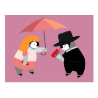 Propose Penguin Postcard