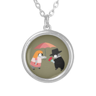 Propose Penguin Silver Plated Necklace