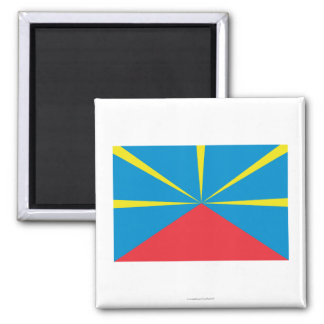 Proposed Reunion Island Flag 2 Inch Square Magnet