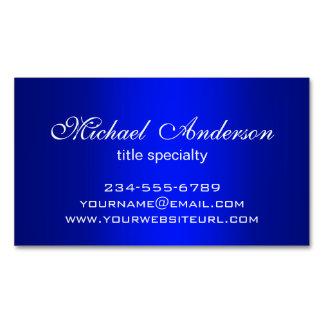 Propósito azul llano elegante del múltiplo de la tarjetas de visita magnéticas (paquete de 25)