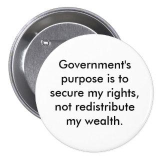 Propósito del botón del gobierno pin redondo de 3 pulgadas