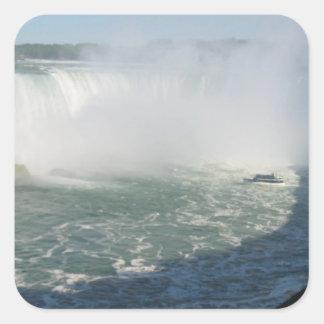 Propósito multi Escribir-en n Niagara Falls Pegatinas Cuadradases Personalizadas