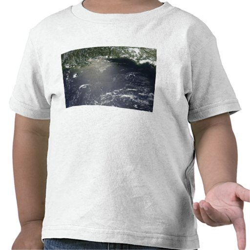 Propósito por satélite de escaparse del aceite camisetas