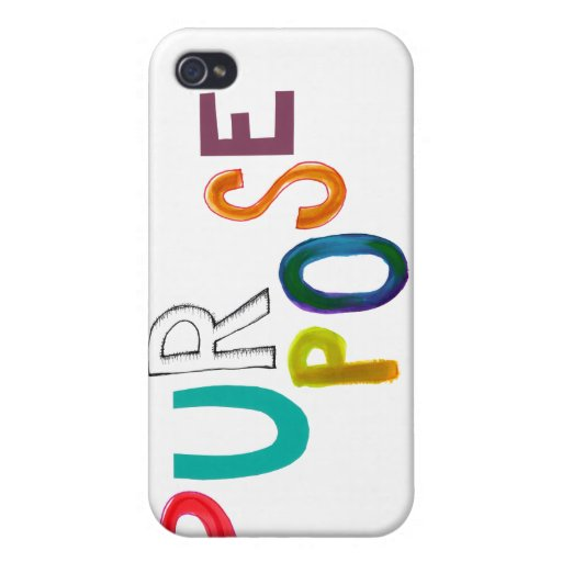 Propósito que significa arte colorido de la palabr iPhone 4 carcasa