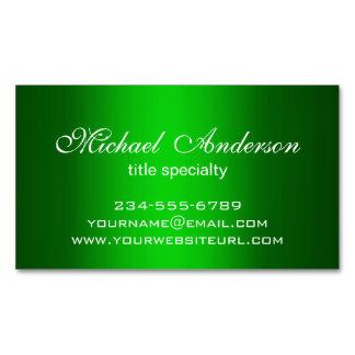 Propósito verde llano elegante del múltiplo de la tarjetas de visita magnéticas (paquete de 25)