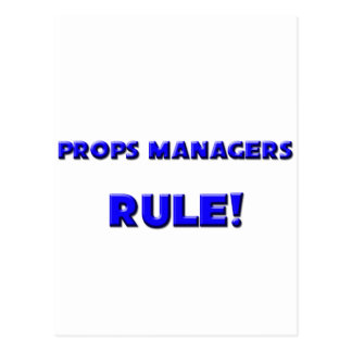 Props Managers Rule! Postcard